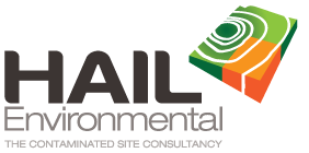 hail environmental contaminated site inspection management logo